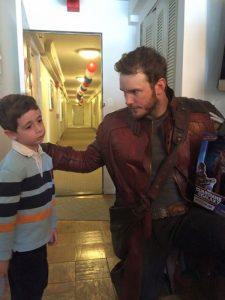 Chris Pratt visits childrens hospital